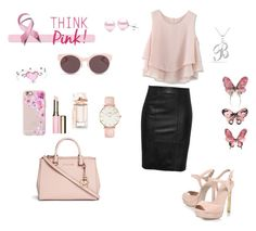 """""""Pinky"""" by dinelaa ❤ liked on Polyvore featuring Chicwish, Michael Kors, KG Kurt Geiger, Bling Jewelry, Christian Dior, Casetify, Clarins, Balenciaga, Suzy Levian and CLUSE"""