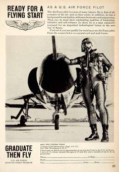 1959 ad for the aviation cadet military training program  #military #avation