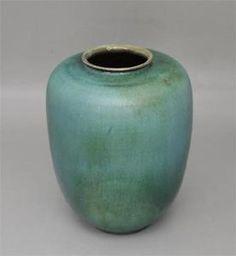 **** Unika vase, Art-Deco-Keramik-Vase-signierte-Studiokeramik-Laufglasur