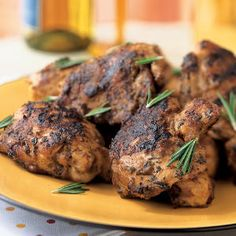 Grilled Chicken with Fresh Grape Glaze   CookingLight.com
