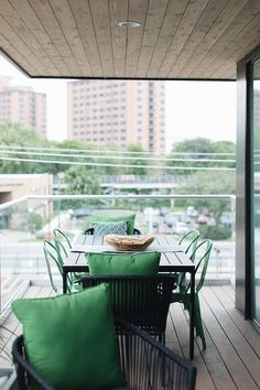 Green outdoor accents