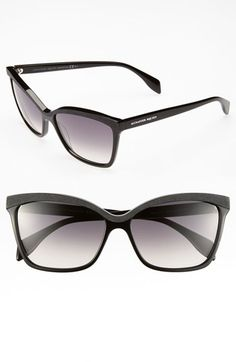 Alexander McQueen 58mm 'Retro' Sunglasses (Online Only) available at #Nordstrom