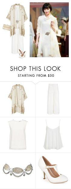 """""""Miss Fisher"""" by pure-emotion-by-violetta ❤ liked on Polyvore featuring MANGO, Joseph, Finders Keepers, Topshop, Journee Collection and Judith Leiber"""