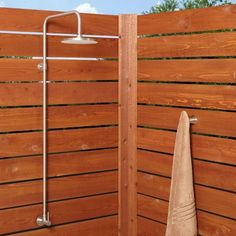 Stainless Steel Exposed Outdoor Shower