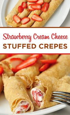 These Strawberry Cream Cheese Stuffed Crepes are heaven wrapped in blankets of bliss!