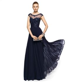MOB! @Robin Schudy  Perfectly smitten with this navy blue Mother of the Bride #dress from the 2013 Pronovias Cocktail Collection. Aren't you?  It would also look gorgeous on bridesmaids!