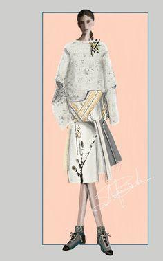"""Masao Yamamoto"" Sketch | Stefania Belmonte | my collection | Fashion Illustration"