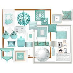 Mostly gray with accent color: turquoise- more of a teal but this is the color scheme for the laundry room
