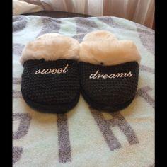 "Victorias Secret Slippers -Used Victorias Secret ""Sweet Dreams"" used, size Medium slippers. Victoria's Secret Shoes Slippers"