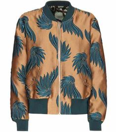 Reversible jacquard bomber jacket   Dries Van Noten