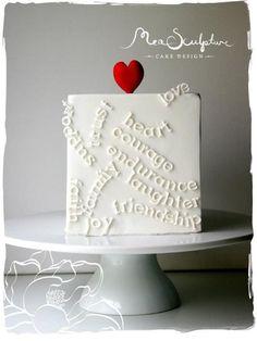 <3 <3 ADD diy www.customweddingprintables.com #customweddingprintables ... Mea Sculpture Cake Design