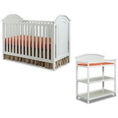 Westwood Design Imagio Baby Harper 3 In 1 Cottage Panel Crib And Changing Table Set White