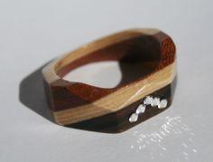 Ring mit Edelsteinen Handmade Jewelry, Jewellery, Bracelets, Leather, Fashion, Rhinestones, Rings, Jewerly, Moda