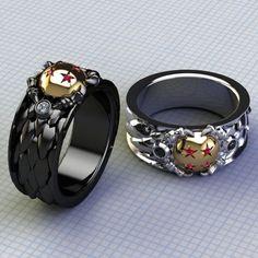 mens dragon ball rings