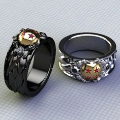 mens dragon ball rings