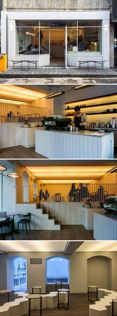 [No.164 수수커피] 가로수길 30평 모던 카페 인테리어, 신사동 카페, 복층, 예쁜커피숍, modern interior
