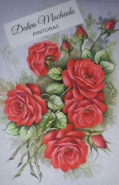 Stencil Painting, Tole Painting, Fabric Painting, Puding Art, Decoupage Jars, Hand Painted Dress, Fabric Paint Designs, Art Drawings Beautiful, Beautiful Rose Flowers