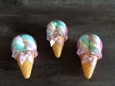 Lembrancinha Sorvete com Marshmallows