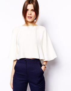 ASOS Kimono Sleeve Crop Top
