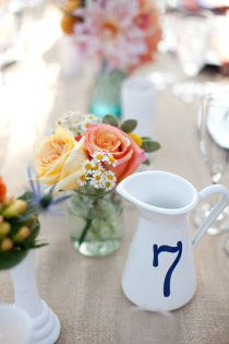 #wedding #decor #table number #Photography Jen Lauren Grant