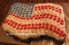 Flag Cupcake Cake Cupcake Cake, for fourth of July. Patriotic Cupcakes, Holiday Cupcakes, Cupcakes Decorating, Decorating Ideas, Summer Picnic, Fourth Of July, Independence Day, Cupcake Cakes, Flag
