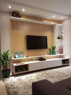 Inspirações Para Você Decorar Sua Sala Com Um Rack Apoiar Tv Entre Outras Decorações