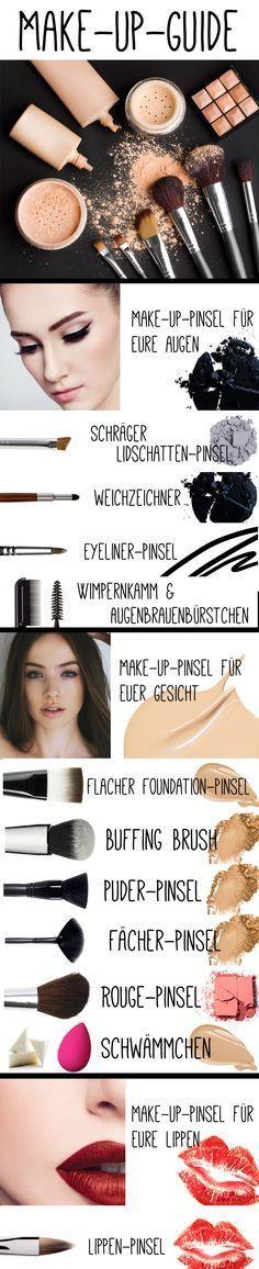 Buffing Brush, Fächer- oder Flat-Top-Pinsel - es gibt viele verschiedene Arten von Make-up-Pinseln. Doch welcher Pinsel ist wofür geeignet? Wir klären auf!  #gofeminin #makeupguide #makeup #beauty