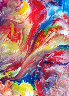 Abstract Art Fluid Painting by markchadwickart, via Flickr