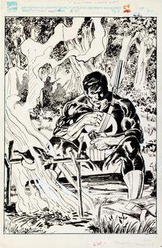 Original Comic Art:Splash Pages, Bob Hall The Punisher Magazine #10 Pin-Up Page 24 OriginalArt (Marvel, 1990)....