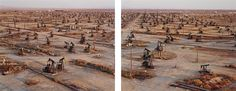 Oil Fields #19a & #19b, Belridge, California by Edward Burtynsky