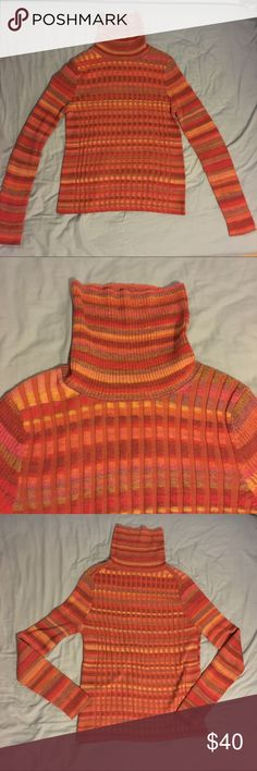 NWOT Anthropologie Moth Striped Knit Turtleneck A beautiful striped knit turtleneck from Moth from Anthropologie. Perfect mint condition. Not my size. Absolutely gorgeous. Anthropologie Sweaters Cowl & Turtlenecks