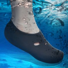 [$1.49] Comfortable and anti-slip 3MM swimming diving socks breathable water to swim the beach socks Size:L(Black)