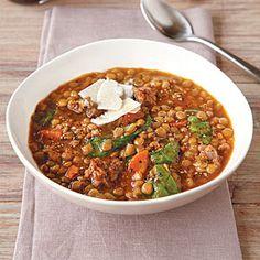 Lentil Soup   MyRecipes.com #myplate #protein #vegetable