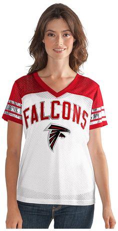 58ead55e Amazon.com : NFL Women's All American Mesh Tee : Sports & Outdoors. NFL  Fans Paradise · Atlanta Falcons