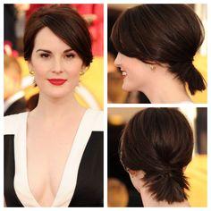 michelle dockery bob ponytail