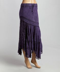 Another great find on #zulily! Purple Floral-Bottom Peasant Maxi Skirt #zulilyfinds