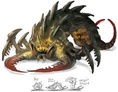 Sandlion Monster from Guild Wars Nightfall - like the colors especially the small touches of red.