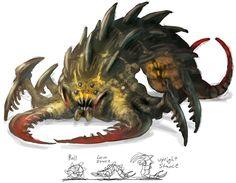 Sandlion Monster from Guild Wars Nightfall