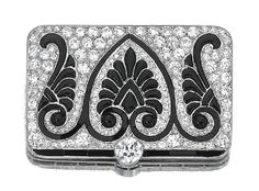 ONYX AND DIAMOND BROOCH, CARTIER, CIRCA 1915