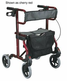 `Diamond Rollator, Marine Blue by Standard-4-Wheel-Rollators. $172.03. Mobility Products,Standard 4-Wheel Rollators. Diamond Rollator, Marine Blue. Marine Blue * Retail Packaging * Red button releases wheel for easy and convenient removal * Tool free removable front & rear wheels * Durable mesh back rest * Comes with removable carry pouch * Large 8  casters are used for indoor and outdoor use * Comfo