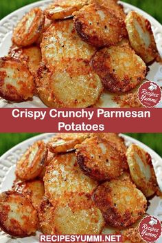 [Easy]: crispy crunchy parmesan potatoes done right Side Dish Recipes, Veggie Recipes, Vegetarian Recipes, Cooking Recipes, Healthy Recipes, Baby Potato Recipes, Easy Yummy Recipes, Potato Dishes Easy, Dishes Recipes