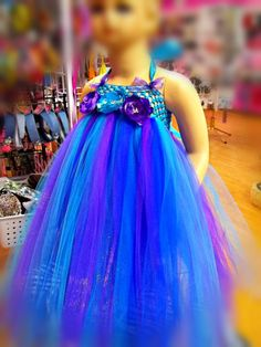 2T 3T Tutu PEACOCK Blue Dress Flower Girl Pageant Sequins Turquoise Toddler Baby | eBay