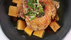 Mario Batali's Braised Cranberry Turkey Thighs