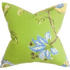 Xois Floral Pillow Green