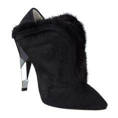 Fendi Fur-Trimmed Calf-Hair Shoe Boot Sale up to 70% off at Barneyswarehouse.com