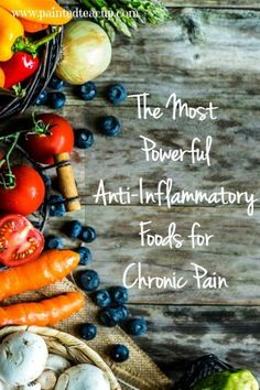 Easy to use information about the benefits of eating a diet with anti-inflammatory foods for chronic pain relief/support! Learning to eat healthy for managing chronic illness!