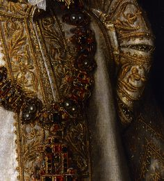 """Portrait of Maria of Portugal, Duchess of Parma"" (c. 1550) (detail) by Antonis Mor (c. 1517-1577)."