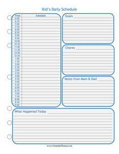 Hourly Schedule Free Classschedule Template  Crafts