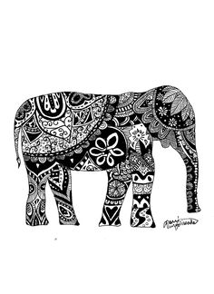 greek mythology elementary art ideas | Elephant; this would be a cool tattoo! Not on me of course, but very ...