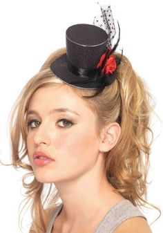 Mini Black Top Hat - $11.99
